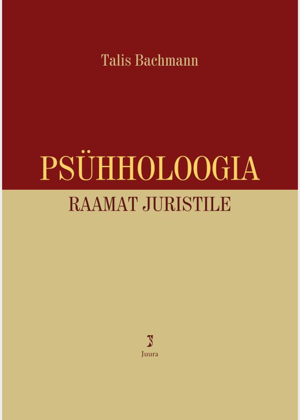 Psühholoogia. Raamat juristile